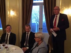 Æresmedlemmet Gunnar Laursen holder sin takketale