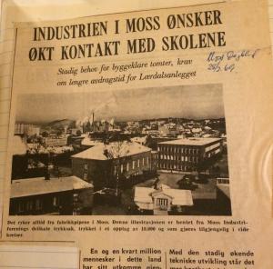 Faksimile fra Moss Dagblad 28.02.1969.
